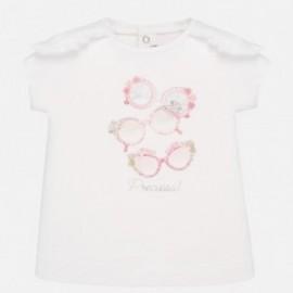 Bavlněné dětské tričko Mayoral 1058-16 růžový