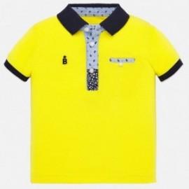 Bavlněné polokošile pro chlapce Mayoral 1146-93 žlutý