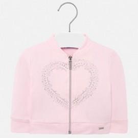 Pletený svetr se stojatým límcem Mayoral girl 1472-51 růžový
