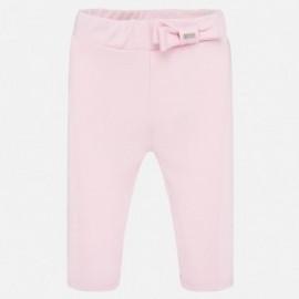 Bavlněné kalhoty pro dívky Mayoral 1556-92 růžový