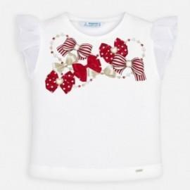 Bavlněné tričko pro dívku Mayoral 3002-53 bílá