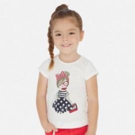 Sada trička pro dívky Mayoral 3004-10 granát
