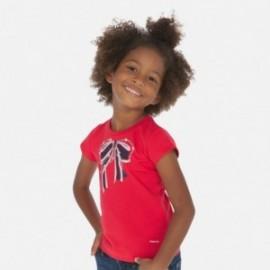 Tričko s aplikací pro dívky Mayoral 3007-25 červená