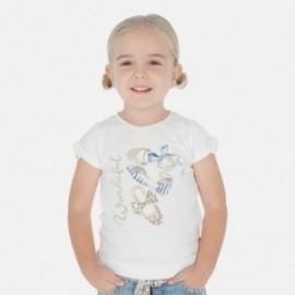 Bavlněné tričko pro dívky Mayoral 3010-69 krém