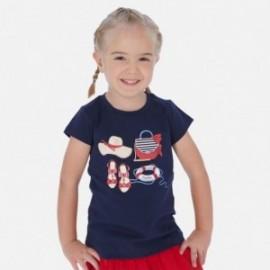 Bavlněné tričko pro dívky Mayoral 3017-33 granát