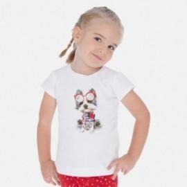 Bavlněné tričko pro dívky Mayoral 3017-31 bílá