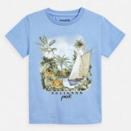 Bavlněné tričko s potiskem pro chlapce Mayoral 3050-95 modrý