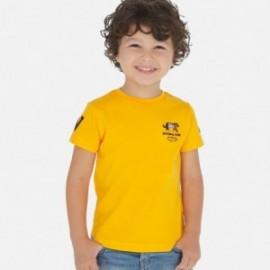 Bavlněné tričko pro chlapce Mayoral 3051-19 oranžové