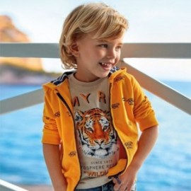 Bavlněné tričko pro chlapce Mayoral 3052-24 béžové