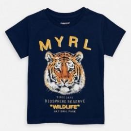 Bavlněné tričko pro chlapce Mayoral 3052-26 granát