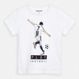 Bavlněné tričko pro chlapce Mayoral 3055-31 bílá