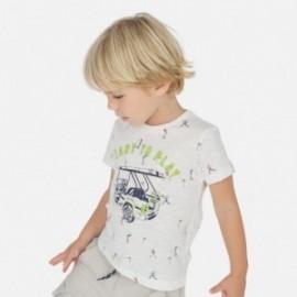 Vzorované tričko pro chlapce Mayoral 3062-84 bílá