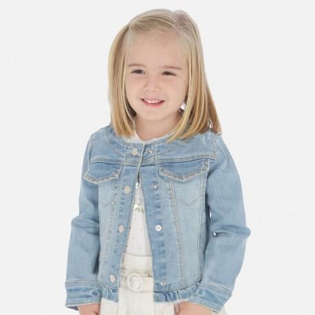 Džínová bunda pro dívky Mayoral 3467-94 modrý