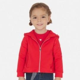 Mikina s kapucí holčičí Mayoral 3468-35 červená