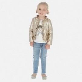 Kalhoty džíny s pásem dívčí Mayoral 3542-10 Jeans
