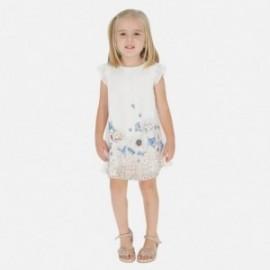 Saténové šaty pro dívku Mayoral 3912-69 béžový
