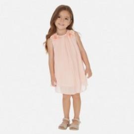 Saty plisované holčičí Mayoral 3922-91 Prášek růžový