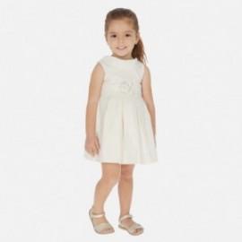 šaty metalizovaný Mayoral dívčí 3927-2 béžový