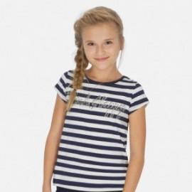 Tričko pruhovaný holčičí Mayoral 6005-34 granát