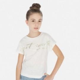 Tričko s krátkým rukávem holčičí Mayoral 6010-3 smetanový