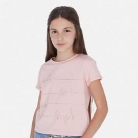 Tričko s krátkým rukávem pro dívky Mayoral 6019-38 růžový