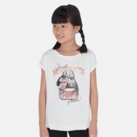 Tričko s krátkým rukávem pro dívky Mayoral 6023-27 bílá