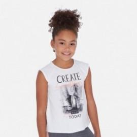 Tričko s krátkým rukávem pro dívky Mayoral 6024-86 bílá