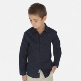 Košile ve vzorech chlapci Mayoral 6153-36 granát