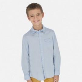 Košile s dlouhým rukávem pro chlapce Mayoral 6157-41 světle modrá