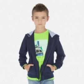 Mikina s kapucí chlapci Mayoral 6445-25 granát