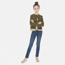 Kalhoty džíny pro dívku Mayoral 6530-86 Tmavé džíny
