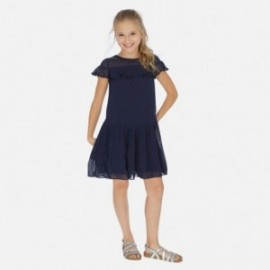 Elegantní šaty pro dívku Mayoral 6976-38 granát