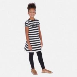 Pruhované bavlněné šaty holčičí Mayoral 6985-92 černá