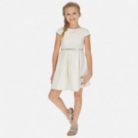 Plátěné šaty s pásem holčičí Mayoral 6963-2 zlato
