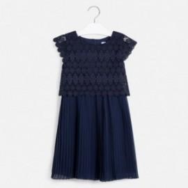 Guipure šaty pro dívku Mayoral 6966-39 granát