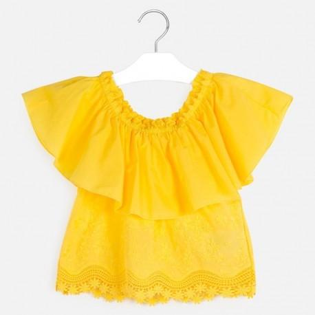 Halenka s holými rameny holčičí Mayoral 6165-44 žlutý
