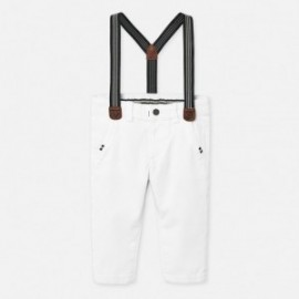 Kalhoty chinos s podvazky kluci Mayoral 1545-76 bílá