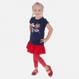 Legíny se sukní pro dívku Mayoral 3717-35 červená