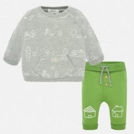 Sada mikina a kalhoty chlapecký Mayoral 1539-40 zelená