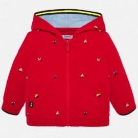 Mikina s kapucí pro chlapce Mayoral 1459-66 červená