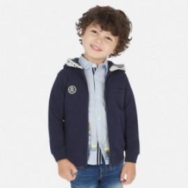 Mikina s kapucí pro chlapce Mayoral 3448-42 granát