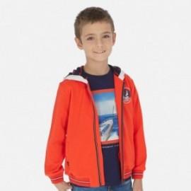 Mikina s kapucí chlapci Mayoral 6444-60 oranžový