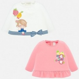 Sada trička pro dívky Mayoral 1035-89 růžový