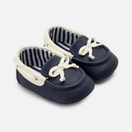 Mokasiny pro malého chlapce Mayoral 9277-25 Bílá-tmavě modrá