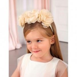 Elegantní čelenka s květinami Girl Abel & Lula 5425-48 krém