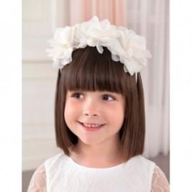 Elegantní čelenka květiny dívka Abel & Lula 5425-49 bílá