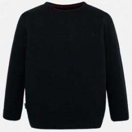 Bavlněný svetr chlapecký Mayoral 354-47 černá