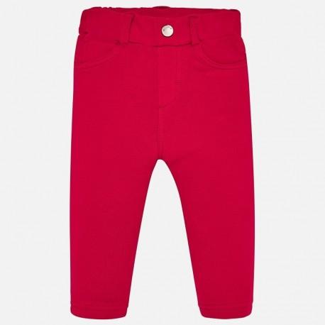 Bavlněné kalhoty pro dívky Mayoral 560-41 červená