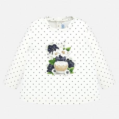Tričko v puntíky pro dívku Mayoral 2009-33 granát