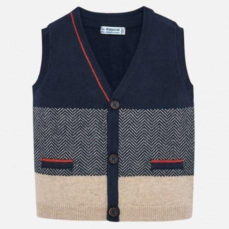 Chlapecká pletená vesta Mayoral 2326-53 granát